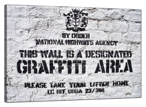 Banksy Canvas Pictures - Designated Graffiti Area - Urban Art