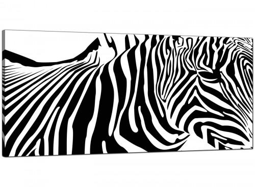 Black-White Cheap Wide Canvas of Zebra