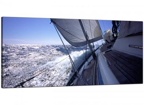 Blue Cheap Large Canvas of Yachts Sea Sailing