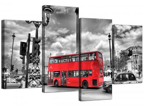 London Bus - Street Scene Cityscape Canvas
