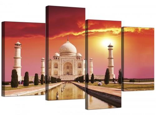 Taj Mahal Sunset Landscape Canvas