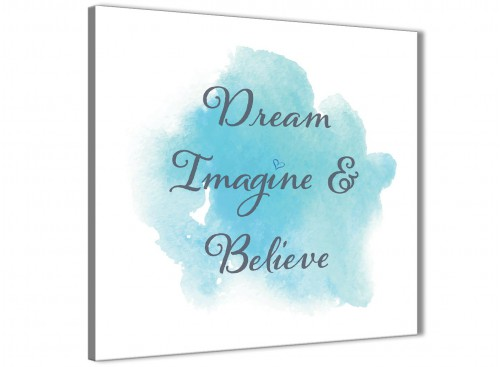 Cheap Canvas Prints Dream Imagine and Believe - Word Art - 1s507s - 49cm Square Wall Art