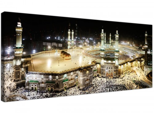 Islamic Canvas - Mecca at Night - Hajj Canvas
