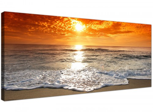 Trendy Canvas Prints UK Orange Panoramic Landscape 1152