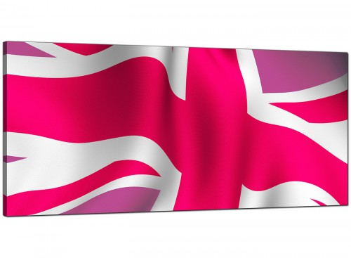 Pink Bedroom Extra Large Canvas of Union Flag