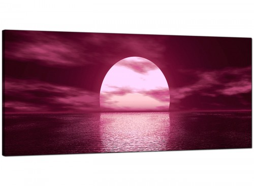 Plum Bedroom Extra Large Canvas of Seascape