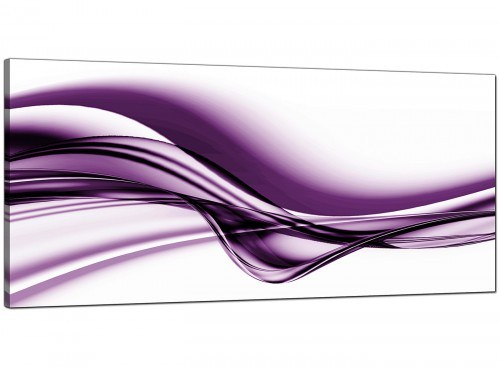 Purple Cheap Panoramic Abstract Canvas