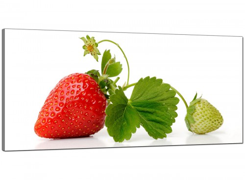 Red Green Strawberry Modern Fresh Kitchen Canvas Art