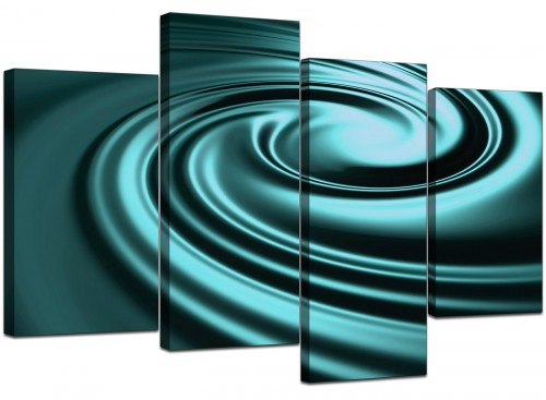 4 Panel Set of Cheap Teal Canvas Wall Art