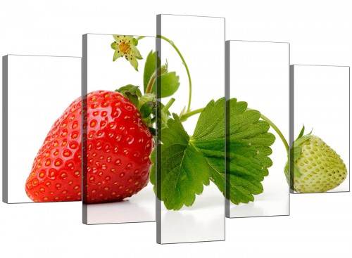 Red Green Strawberry Modern Fresh Kitchen Canvas Art