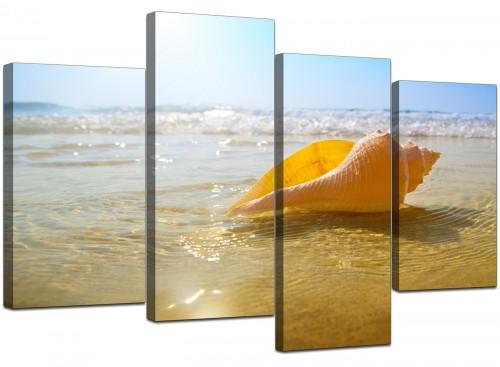 4 Panel Set of Modern Blue Canvas Prints