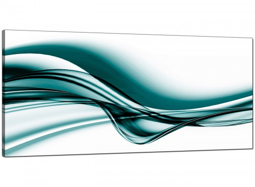 Teal Bedroom Large Abstract Canvas
