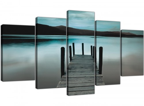 extra large canvas art living room 5 panel 5237