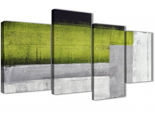 Green Grey Painting Abstract Canvas Pictures Accessories