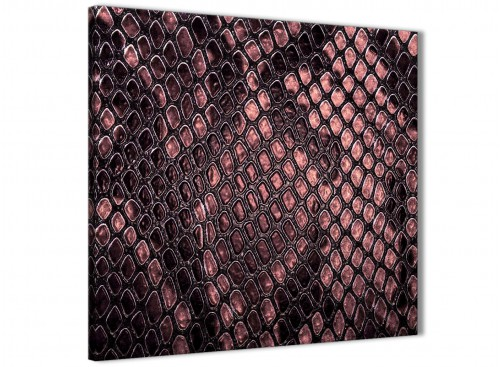 Blush Pink Snakeskin Animal Print Bedroom Canvas Wall Art Accessories - Abstract Print