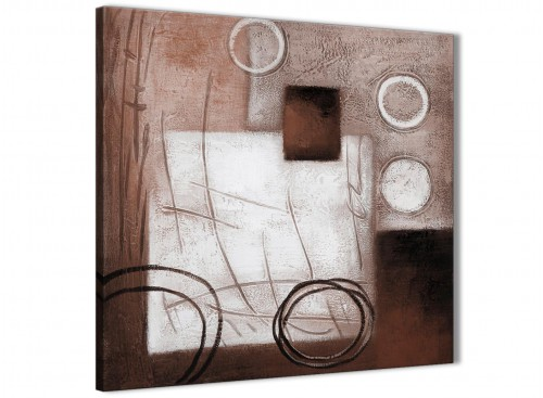 Brown White Painting Abstract Canvas Wall Art