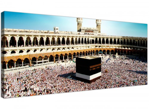 Modern Islamic Canvas Prints UK Black & White Panoramic 1191