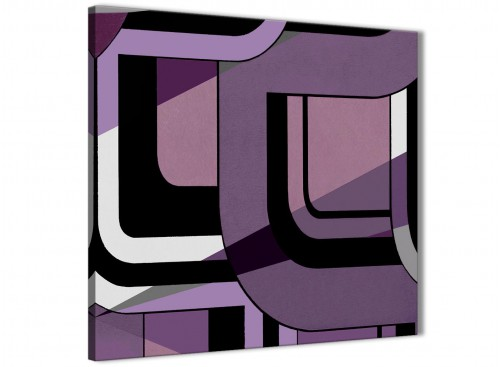 Lilac Grey Abstract Canvas Wall Art