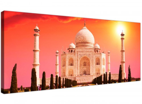 Large Taj Mahal Canvas Prints Orange Panoramic 1193