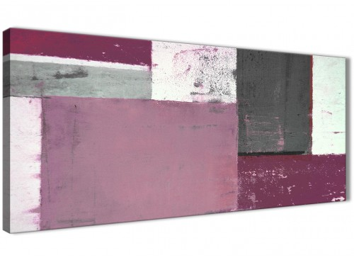 Oversized Plum Gray Abstract Painting Canvas Wall Art Picture Modern 120cm Wide 1342 For Your Living Room