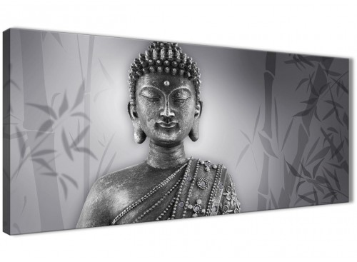 Black and White Buddha Canvas Wall Art