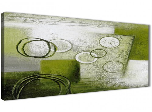 Green Painting Abstract Canvas Wall Art Decorations