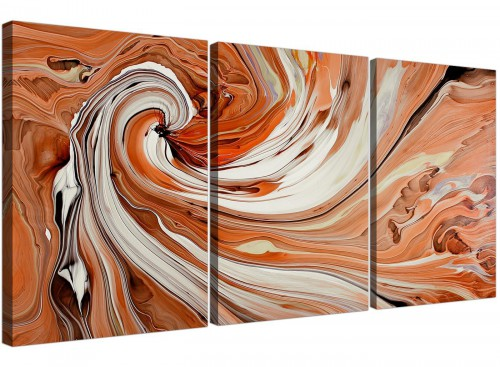 set of 3 abstract swirl canvas pictures living room 3264