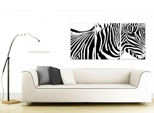 Set of Three Animal Canvas Prints UK 125cm x 60cm 3022