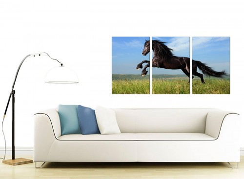 Set of 3 Animal Canvas Wall Art 125cm x 60cm 3129