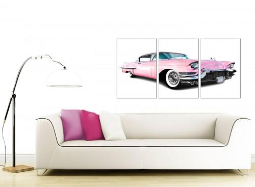3 Panel Automobile Canvas Pictures 125cm x 60cm 3040