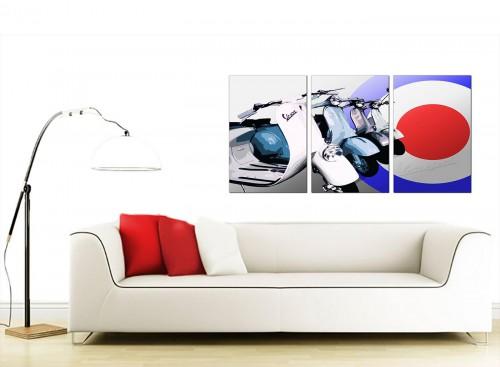 Triptych Automotive Canvas Pictures 125cm x 60cm 3149