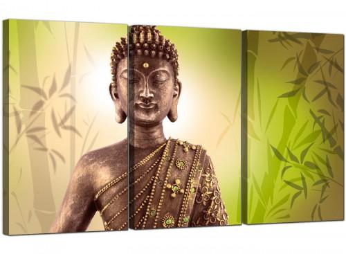 Buddha Lime Green Bamboo Zen Canvas
