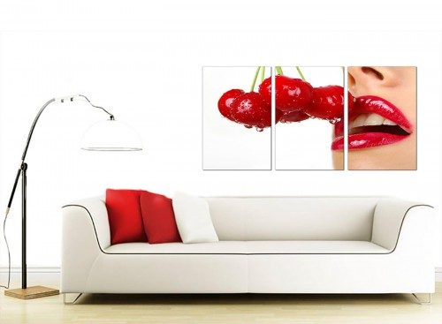 3 Panel Erotic Canvas Wall Art 125cm x 60cm 3049