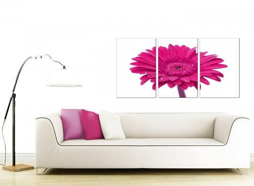 3 Panel Floral Canvas Wall Art 125cm x 60cm 3099
