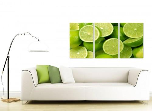 3 Part Food & Drink Canvas Pictures 125cm x 60cm 3113
