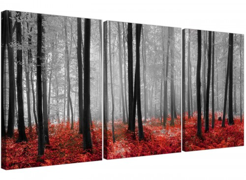 set of 3 forest woodland trees canvas prints uk living room 3236