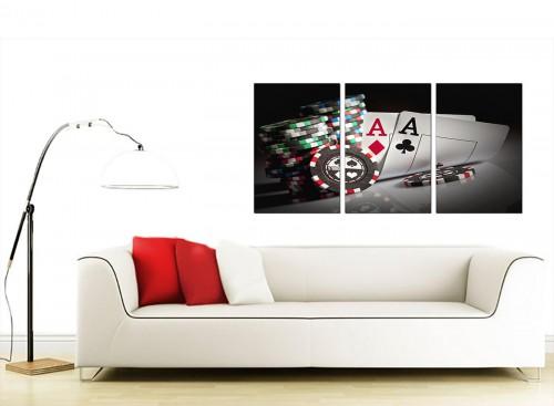 Set of 3 Games Canvas Prints UK 125cm x 60cm 3048