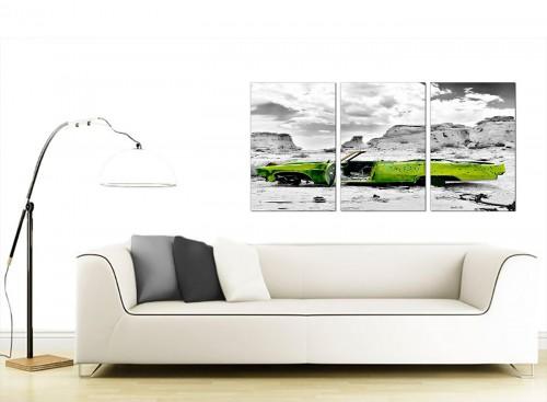 Set of 3 Landscape Canvas Prints UK 125cm x 60cm 3143