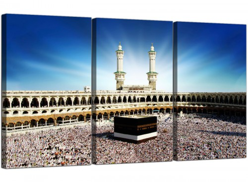 3 Panel Muslim Canvas Art Mecca Kaaba at Hajj 3191