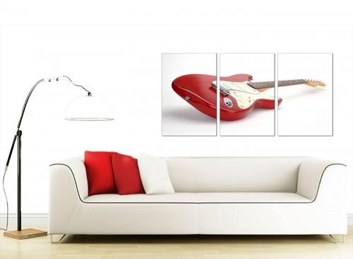 Set of 3 Music Canvas Prints 125cm x 60cm 3007