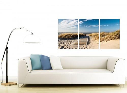 Set of 3 Sea Canvas Pictures 125cm x 60cm 3197