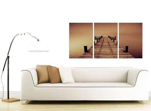 3 Panel Sea Canvas Prints 125cm x 60cm 3045