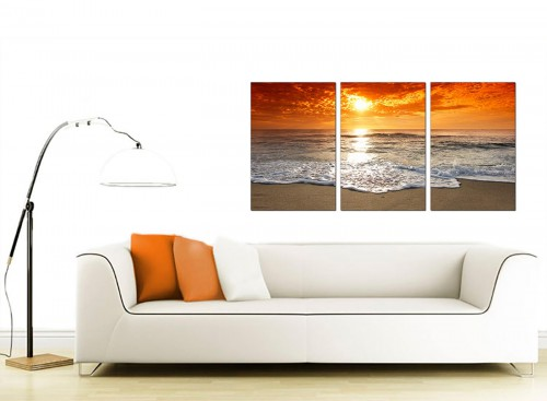 Set of 3 Sea Canvas Prints 125cm x 60cm 3152
