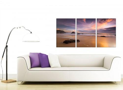 Set of 3 Sea Canvas Prints 125cm x 60cm 3198