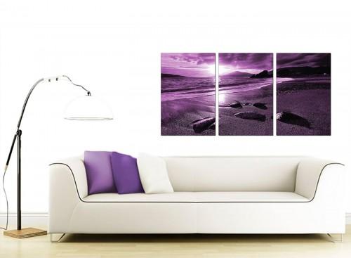 3 Part Seascape Canvas Prints 125cm x 60cm 3077