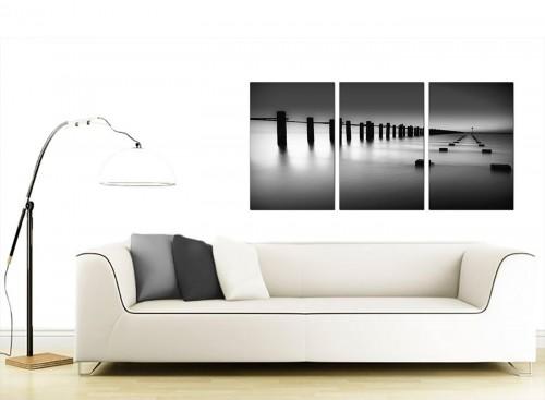 3 Panel Seascape Canvas Prints UK 125cm x 60cm 3085