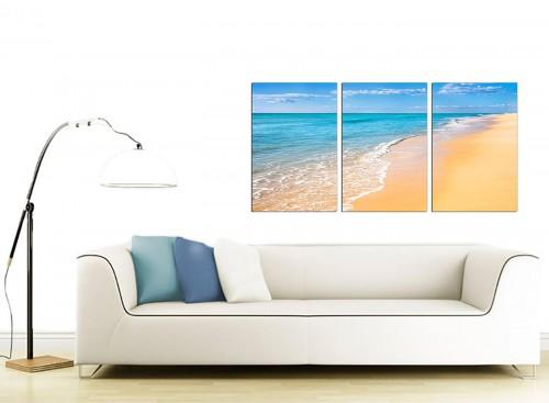3 Panel Seascape Canvas Art 125cm x 60cm 3199