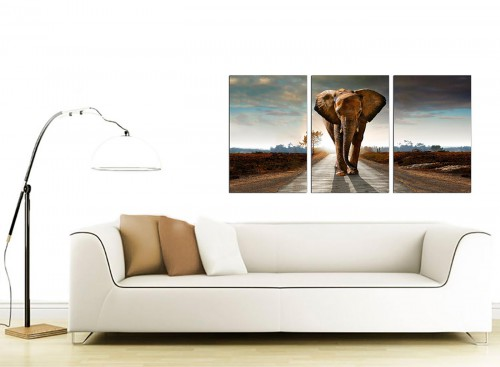 Set of 3 Wildlife Canvas Art 125cm x 60cm 3209