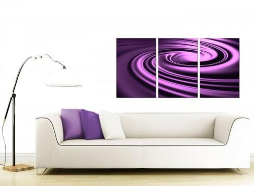 Set of Three Abstract Canvas Art 125cm x 60cm 3058