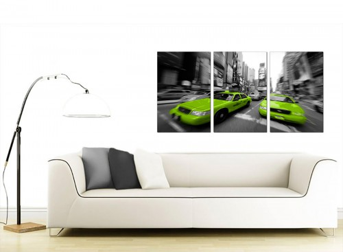 Set of 3 American City Canvas Pictures 125cm x 60cm 3027